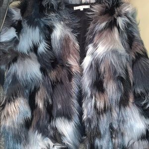 Willow&Clay mint condition plush faux fur coat